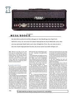 Gitarre & Bass Mesa/Boogie Roadster, Gitarren-Topteil