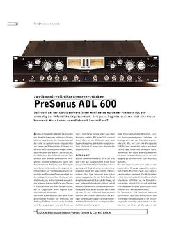 Sound & Recording PreSonus ADL 600