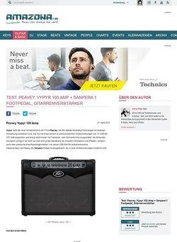 Amazona.de Test: Peavey, Vypyr 100 Amp + Sanpera 1 Footpedal, Gitarrenverstärker