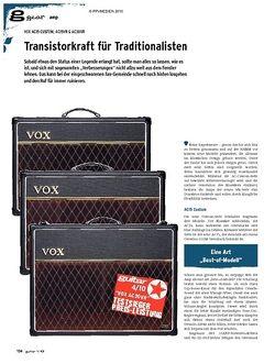 Guitar gear Amp - Vox AC15 Custom, AC15VR & AC30VR