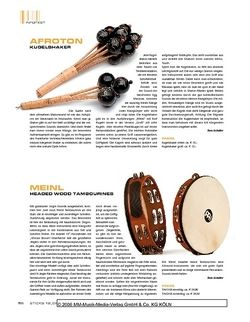 Sticks Meinl Headed Wood Tambourines