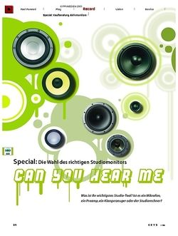 KEYS Special: Kaufberatung Studio-Monitore