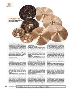 Sticks Paiste Signature Line Cymbals