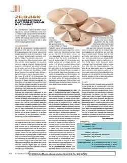 "Sticks ""Zildjian K Constantinople Flat Ride Cymbals & 13"""" Hi-Hat"""