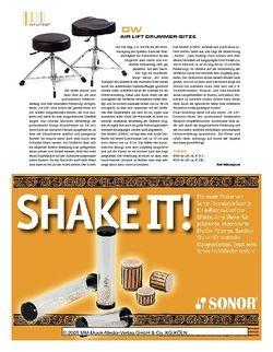 Sticks DW Air Lift Drummer-Sitze