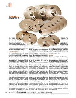 Sticks Meinl Mb20 Cymbals