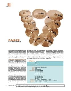 Sticks Paiste PST 3 Cymbals