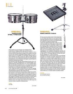 Sticks Meinl Percussion Table