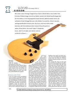 Gitarre & Bass Gibson Les Paul 1960 Special Single Cutaway V.O.S., E-Gitarre
