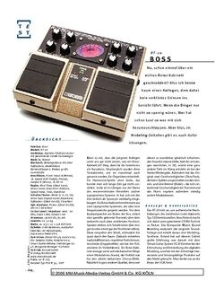 Gitarre & Bass Boss RT-20, Bodeneffekt-Prozessor