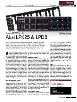 KEYS Akai LPK25 & LPD8
