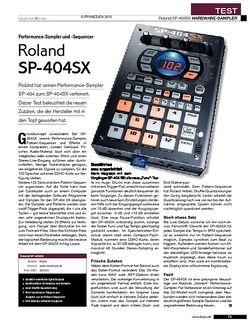 KEYS Roland SP-404SX