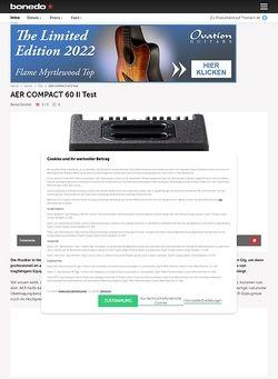Bonedo.de AER Compact 60 II Acoustic-Amp
