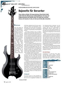 Guitar gear E-Gitarre/Bass - Slayer-Gitarren: ESP LTD TA-600, JH-600 & JH-200