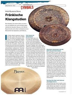 DrumHeads Instrumente & Technik: Meinl Byzance News