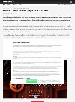 Bonedo.de EastWest Quantum Leap Symphonic Choirs