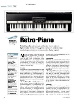 Tastenwelt Test: Yamaha CP1 - Retro-Piano