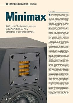 Professional Audio Minimax: ADAM A3X