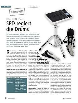 Soundcheck Test: Roland SPD-30 Octapad - SPD regiert die Drums