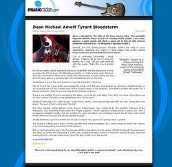 MusicRadar.com Dean Michael Amott Tyrant Bloodstorm