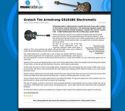 MusicRadar.com Gretsch Tim Armstrong G5191BK Electromatic