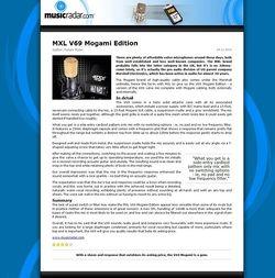 MusicRadar.com MXL V69 Mogami Edition
