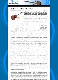 MusicRadar.com Martin 000-15M acoustic guitar