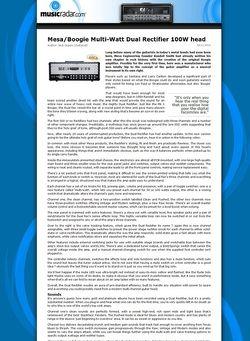 MusicRadar.com Mesa/Boogie Multi-Watt Dual Rectifier 100W head