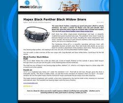 MusicRadar.com Mapex Black Panther Black Widow Snare