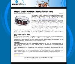 MusicRadar.com Mapex Black Panther Cherry Bomb Snare