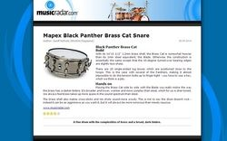 MusicRadar.com Mapex Black Panther Brass Cat Snare