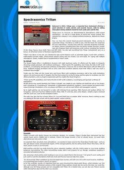 MusicRadar.com Spectrasonics Trilian