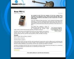 MusicRadar.com Boss FRV-1