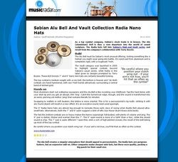 MusicRadar.com Sabian Alu Bell And Vault  Collection Radia Nano Hats