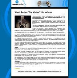 MusicRadar.com Violet Design 'The Wedge' Microphone