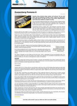 MusicRadar.com Duesenberg Pomona 6