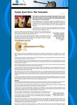 MusicRadar.com Fender Road Worn '50s Telecaster