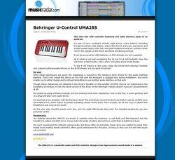 MusicRadar.com Behringer U-Control UMA25S