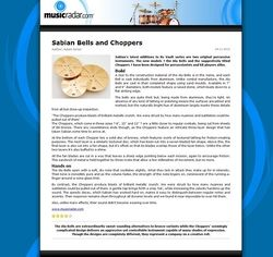 MusicRadar.com Sabian Bells and Choppers