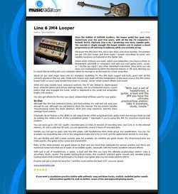 MusicRadar.com Line 6 JM4 Looper