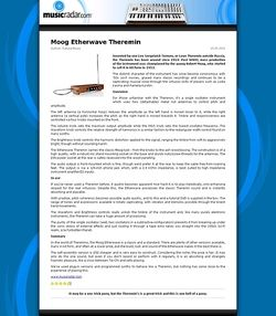 MusicRadar.com Moog Etherwave Theremin