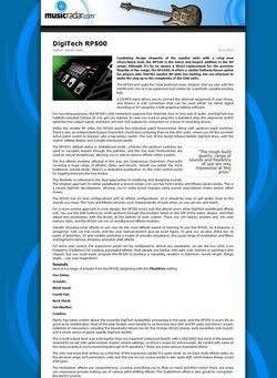 MusicRadar.com DigiTech RP500