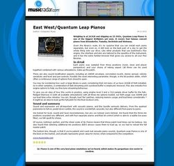 MusicRadar.com East West/Quantum Leap Pianos
