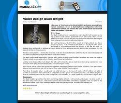 MusicRadar.com Violet Design Black Knight