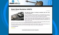 MusicRadar.com Dean Dave Mustaine VMNT1