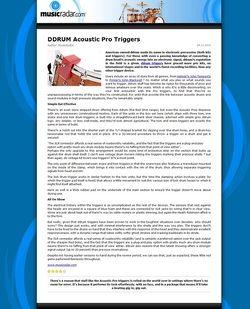 MusicRadar.com DDRUM Acoustic Pro Triggers
