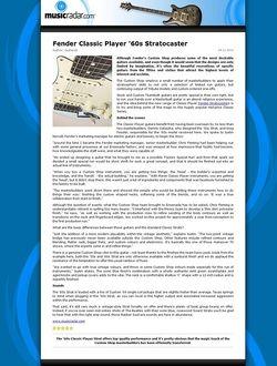 MusicRadar.com Fender Classic Player '60s Stratocaster