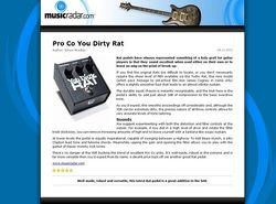 MusicRadar.com Pro Co You Dirty Rat