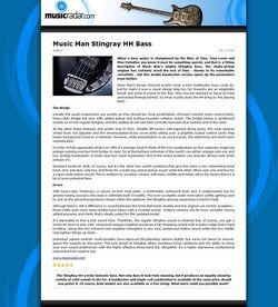 MusicRadar.com Music Man Stingray HH Bass