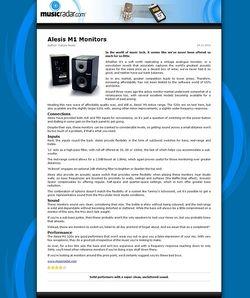 MusicRadar.com Alesis M1 Monitors